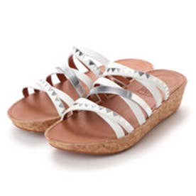 フィットフロップ fitflop LINNY SLIDE SANDALS - ZIGZAG MIRROR (Urban White/Silver Mirror)
