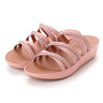 フィットフロップ fitflop LINNY SLIDE SANDALS - CRYSTAL (Dusky Pink)