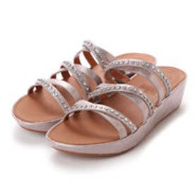 フィットフロップ FitFlop LINNY SLIDE SANDALS - CRYSTAL (Blush/Metallic Nude)