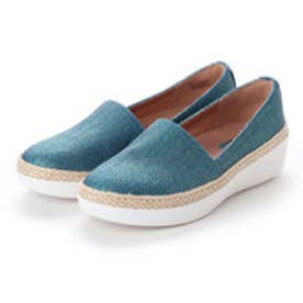 フィットフロップ fitflop CASA LOAFERS - SHIMMER-TWILL (Indian Blue)