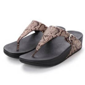 フィットフロップ fitflop SKINNY TOE-THONG SANDALS - SNAKE-PRINT LEATHER (Taupe Snake)