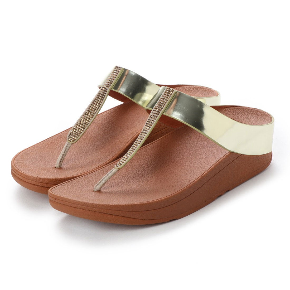 8af6858b0 fitflop フィットフロップ FitFlop FINO CRYSTAL TOE-THONG SANDALS (Gold) -アウトレット通販  ロコレット (LOCOLET)