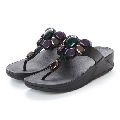 フィットフロップ fitflop HONEYBEE JEWELLED TOE-THONG SANDALS (Black)