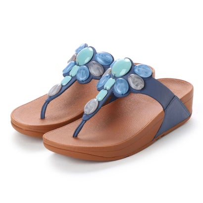 フィットフロップ fitflop HONEYBEE JEWELLED TOE-THONG SANDALS (Indian Blue)