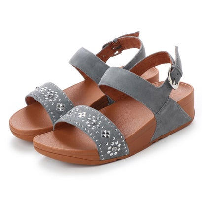 フィットフロップ fitflop LULU AZTEK STUD BACK-STRAP SANDALS - SUEDE (Dove Blue)