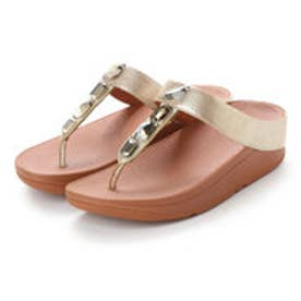 フィットフロップ FitFlop ROKA TOE-THONG SANDALS - LEATHER (Gold)
