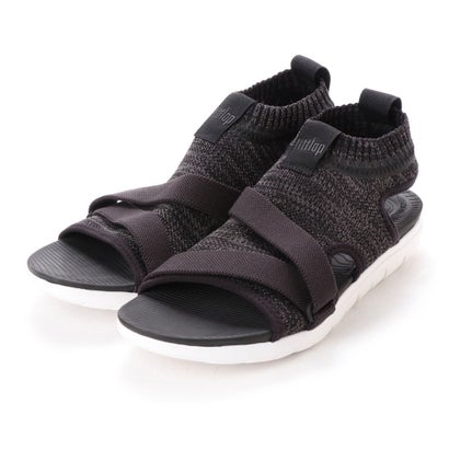 フィットフロップ fitflop UBERKNIT BACK-STRAP SANDALS (Black/Soft Grey)