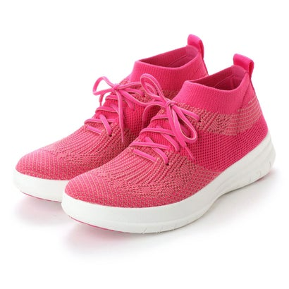 フィットフロップ fitflop UBERKNIT SLIP-ON HIGH TOP SNEAKER (Fuchsia/Dusky Pink)