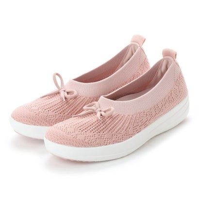 フィットフロップ fitflop UBERKNIT SLIP-ON BALLERINA WITH BOW (Neon Blush/White)