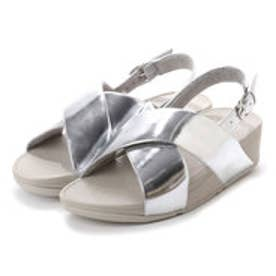 フィットフロップ FitFlop LULU CROSS BACK-STRAP SANDALS - MIRROR (Silver Mirror)