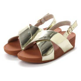 フィットフロップ fitflop LULU CROSS BACK-STRAP SANDALS - MIRROR (Gold Mirror)