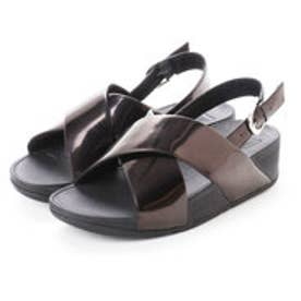 フィットフロップ fitflop LULU CROSS BACK-STRAP SANDALS - MIRROR (Black Mirror)