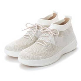 フィットフロップ FitFlop UBERKNIT SLIP-ON HIGH TOP SNEAKER (Metallic Gold/Urban White)