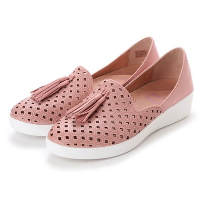 フィットフロップ fitflop TASSEL SUPERSKATE D'ORSAY LOAFERS-LATTICED LEATHER (Dusky Pink)
