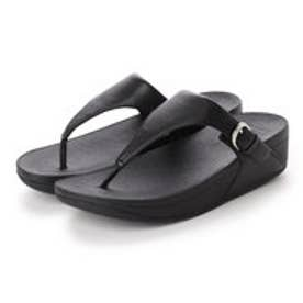 フィットフロップ FitFlop SKINNY TOE-THONG SANDALS - LEATHER (Black)