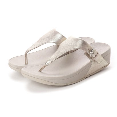 フィットフロップ fitflop SKINNY TOE-THONG SANDALS - LEATHER (Silver)