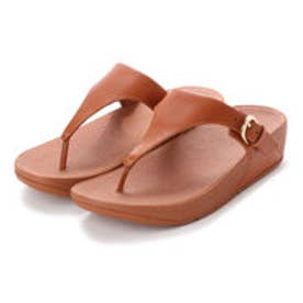 フィットフロップ fitflop SKINNY TOE-THONG SANDALS - LEATHER (Caramel)