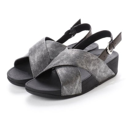 フィットフロップ fitflop LULU CROSS BACK-STRAP SANDALS - SHIMMER-PRINT (Black Shimmer-Print)