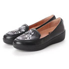 フィットフロップ FitFlop SNEAKERLOAFER - DAISY-STITCH EMBROIDERY (Black Mix)