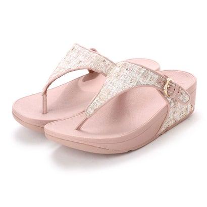 フィットフロップ fitflop SKINNY TOE-THONG SANDALS - LUXE-TWEED (Dusky Pink)