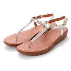 フィットフロップ fitflop TIA TOE-THONG SANDALS - LEATHER (Silver)