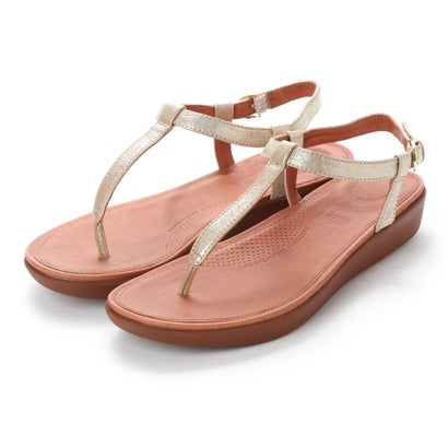 フィットフロップ fitflop TIA TOE-THONG SANDALS - LEATHER (Pale Gold)