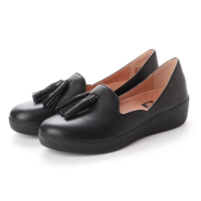 フィットフロップ fitflop TASSEL SUPERSKATE D'ORSAY LOAFERS - LEATHER (Black)