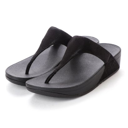 フィットフロップ fitflop SHIMMY SUEDE TOE-POST (Black Glimmer)
