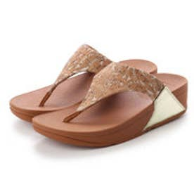 フィットフロップ fitflop LULU TOE-THONG SANDALS - MIRROR / CORK (Cork/Gold Mirror)