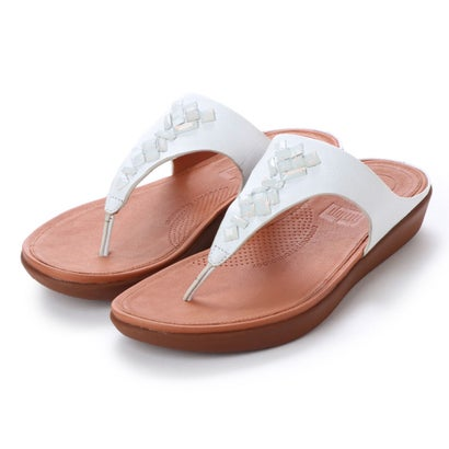 フィットフロップ fitflop BANDA LEATHER TOE-THONG SANDALS - CRYSTAL (Urban White)