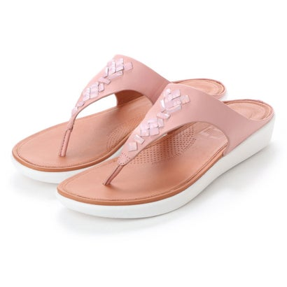 フィットフロップ fitflop BANDA LEATHER TOE-THONG SANDALS - CRYSTAL (Dusky Pink)