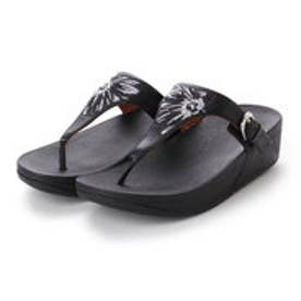 フィットフロップ FitFlop THE SKINNY TOE-THONG - DAISY-STITCH EMBROIDERY (Black)