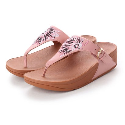フィットフロップ fitflop THE SKINNY TOE-THONG - DAISY-STITCH EMBROIDERY (Dusky Pink)