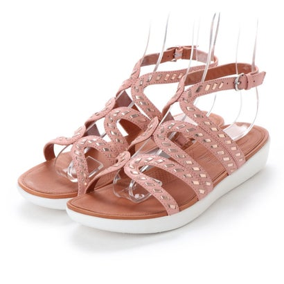 フィットフロップ fitflop STRATA GLADIATOR SANDALS - WHIPSTITCH LEATHER (Dusky Pink)
