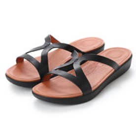 フィットフロップ fitflop STRATA SLIDE SANDALS - LEATHER (Black)