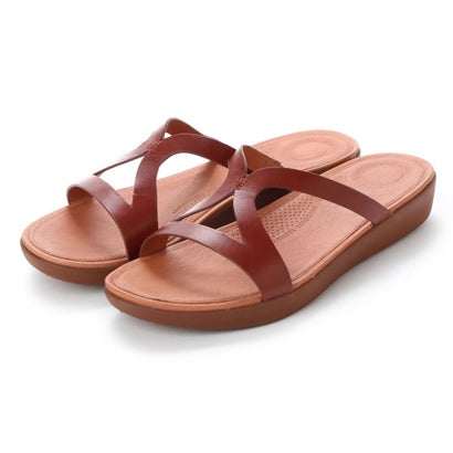 フィットフロップ fitflop STRATA SLIDE SANDALS - LEATHER (Cognac)
