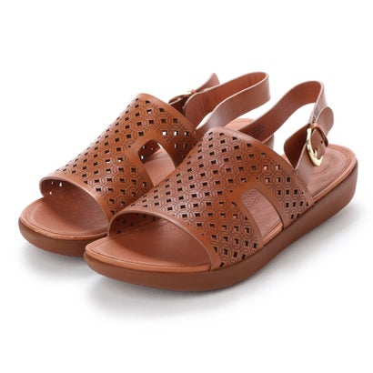 フィットフロップ fitflop H-BAR BACK-STRAP SANDALS - LATTICED LEATHER (Caramel)