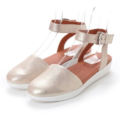 フィットフロップ FitFlop COVA CLOSED-TOE SANDALS - METALLIC LEATHER (Metallic Silver)