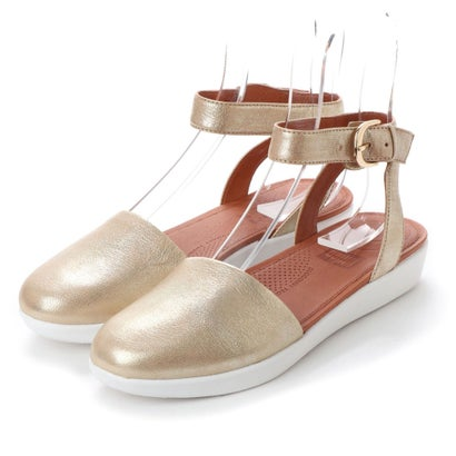 フィットフロップ FitFlop COVA CLOSED-TOE SANDALS - METALLIC LEATHER (Metallic Gold)