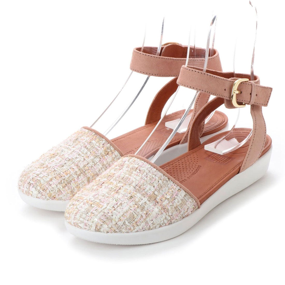 459b60eb6fcccb fitflop フィットフロップ FitFlop COVA CLOSED-TOE SANDALS - LUXE-TWEED (Dusky Pink)  -アウトレット通販 ロコレット (LOCOLET)