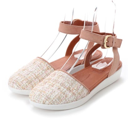 フィットフロップ fitflop COVA CLOSED-TOE SANDALS - LUXE-TWEED (Dusky Pink)