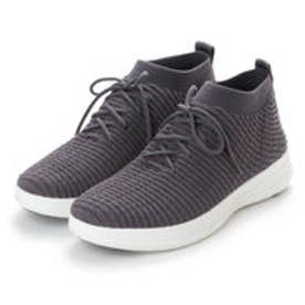 フィットフロップ FitFlop UBERKNIT SLIP-ON HIGH TOP SNEAKER in WAFFLE KNIT (Dark Shadow)