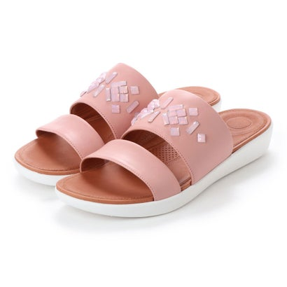 フィットフロップ fitflop DELTA LEATHER SLIDE SANDALS - CRYSTAL (Dusky Pink)
