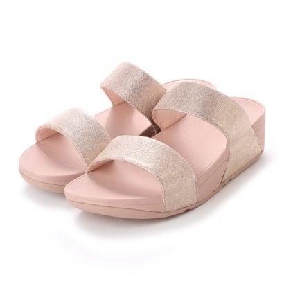 フィットフロップ FitFlop SHIMMY SLIDE SANDALS - FOIL PRINT SUEDE (Pink Foil Suede)