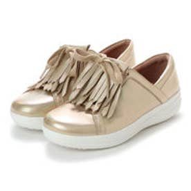フィットフロップ FitFlop F-SPORTY II LACE UP FRINGE SNEAKERS-IRIDESCENT LTR (Gold Iridescent)