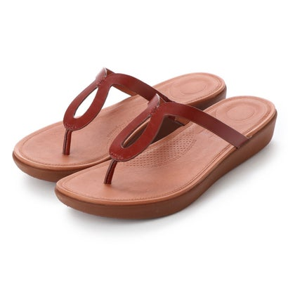 フィットフロップ fitflop STRATA TOE-THONG SANDALS - LEATHER (Cognac)