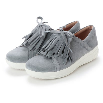 フィットフロップ FitFlop F-SPORTY II LACE UP FRINGE SNEAKERS - SUEDE (Dove Blue)