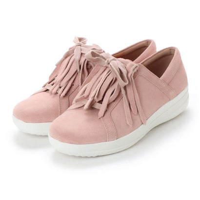 フィットフロップ fitflop F-SPORTY II LACE UP FRINGE SNEAKERS - SUEDE (Dusky Pink)