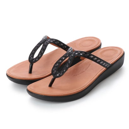 フィットフロップ fitflop STRATA TOE-THONG SANDALS - WHIPSTITCH LEATHER (Black)