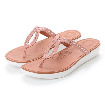 フィットフロップ fitflop STRATA TOE-THONG SANDALS - WHIPSTITCH LEATHER (Dusky Pink)